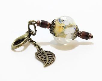 Lampwork Charm #103: Keychain Dangle, Bag Charm, Purse Bling