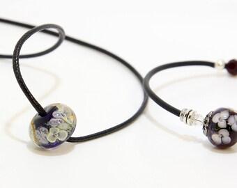 Lampwork Necklace and Bracelet - Simple Artisan Bead Jewelry