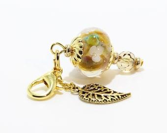 Lampwork Charm #102: Keychain Dangle, Bag Charm, Purse Bling