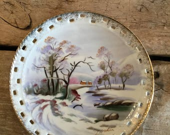 Vintage Japanese Collectors Plate|Signed Hand Painted Plate