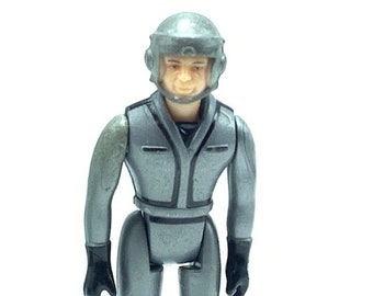 Laser Force Action Figure Gray Silver Driver Soldier Gay Toys 1983