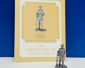 FRANKLIN MINT PEWTER The fighting men of world war ii 2 two miniature soldier figurine coa vtg ww2 rare wwii private Corporal Britain Watch