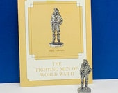 FRANKLIN MINT PEWTER The fighting men of world war ii 2 two miniature soldier figurine coa vtg ww2 rare wwii Major Luftwaffe