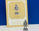 FRANKLIN MINT PEWTER The fighting men of world war ii 2 two miniature soldier figurine coa vtg ww2 wwii Private Chinese national army