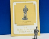 FRANKLIN MINT PEWTER The fighting men of world war ii 2 two miniature soldier figurine coa vtg ww2 wwii Infantry 17th brigade Australia