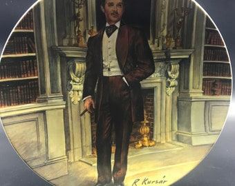 "Vtg Knowles Collector Plate ""Rhett"" Gone with Wind '81 Raymond Kursar COA Box"