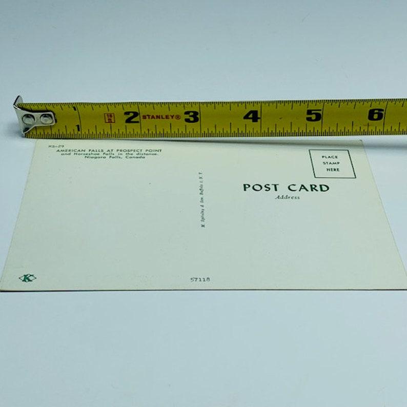 POSTCARD EPHEMERA ANTIQUE post card paper collectible unposted vintage vtg mcm roadside america canada niagara falls horseshoe american 4