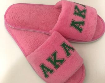 pretty nice 31deb 8494e AKA Slippers  Alpha Kappa Alpha Slides  Custom Slippers