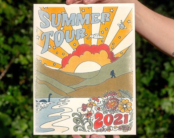 SUMMER TOUR 2021 PRINT, Phish Summer Tour 2021, Phish print, phish art, phan art, phish poster, phish chicks, phish gift, summer tour, 2021