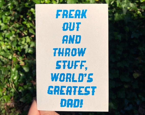 WORLD'S GREATEST DAD Card, Phish Father's Day, world's greatest dad, fuego, phish chicks, phish gift