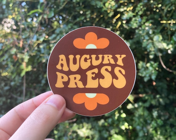 AUGURY PRESS STICKER, Augury Press, Phish, Sticker, Phish sticker, Phish art, Phan art, Phish print, Phish poster, Phish Chicks