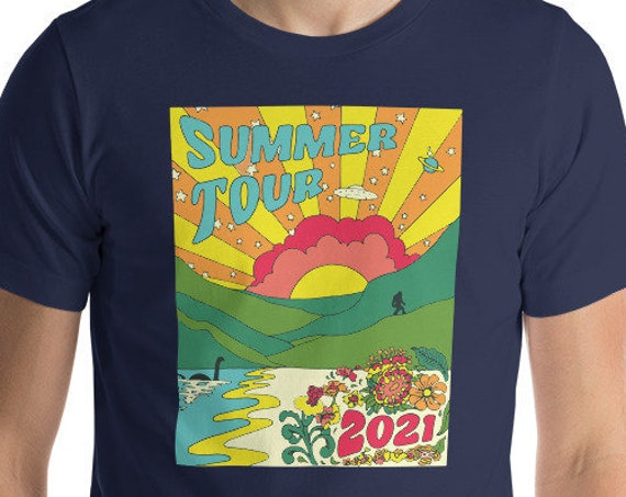 SUMMER TOUR SHIRT, Phish summer tour, phish shirt, phish summer tour shirt, sasquatch, bigfoot, nessie, phish art, phan art, phish chicks