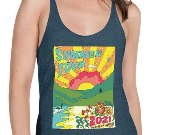 SUMMER TOUR TANK, Summer Tour Shirt, Phish, Phish summer tour, phish tour shirt, sasquatch, bigfoot, nessie, ufo, phish chicks