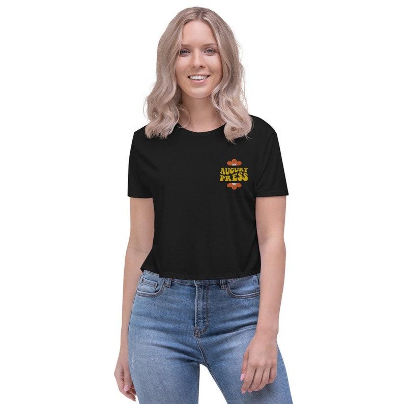 Augury Press Embroidered Crop Crop Tee Phan art Phish Chicks Augury Press Shirt Phish art Embroidered T-shirt Phish shirt