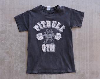 d6c4dd476 RARE Vintage Pitbull Gym Faded black T-shirt S USA Made