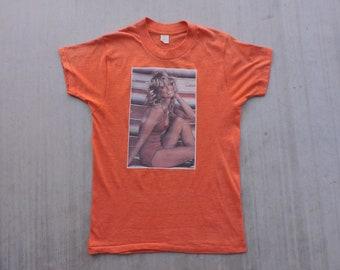 223b381a7 RARE Vintage 70s 1976 Farrah Fawcett Poster T-shirt S USA Made