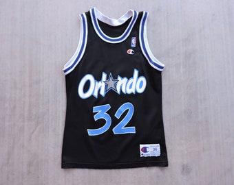 ac154f93a32 RARE Vitnage 90s Champion USA Made Shaquille O'neal Orlando Magic Jersey 36