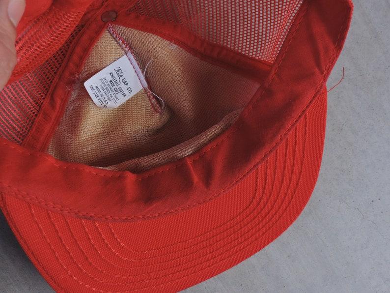 RARE Vintage 80s USMC United States Marine Corps Red Snapback Baseball Cap  USA Made