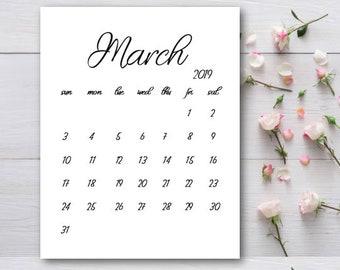 Pregnancy Announcement Calendar Printable April 2019 Etsy