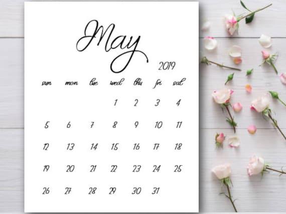 Baby Calendar May : Pregnancy announcement calendar printable may