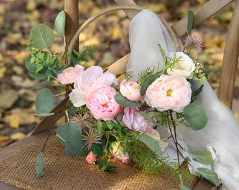 221d082ac Artificial Flower Hoop Artificial Mixed Pink Floral with Greenery 9