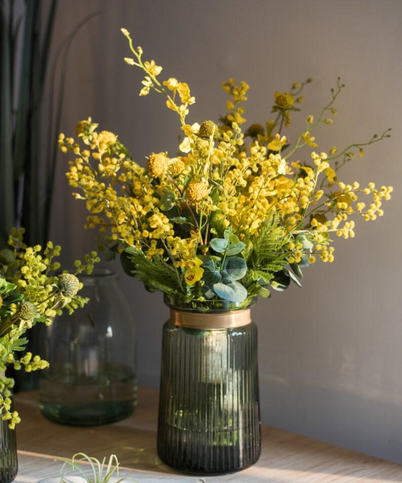 Artificial Flower Bouquet Yellow Flower Garden 21 Tall