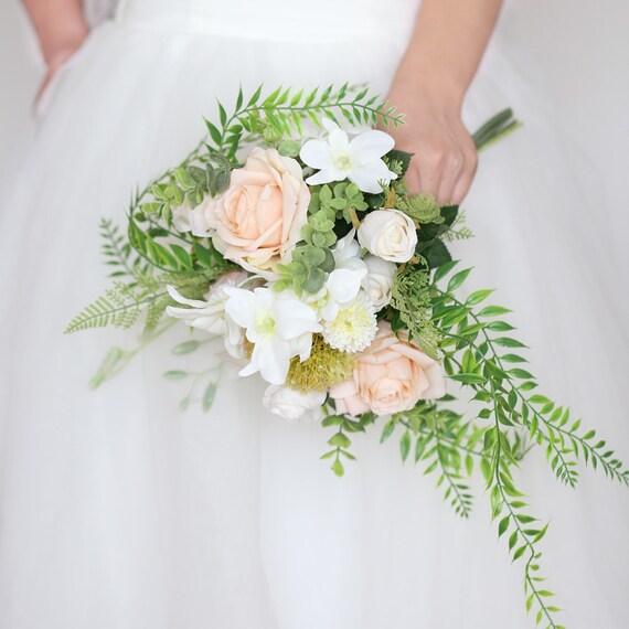 Bouquet Sposa Elegante.Wedding Bouquet Elegant Champagne Rose Bridal Bouquet Etsy