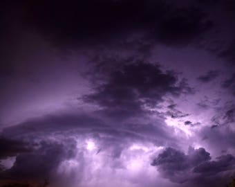 Purple Monsoon Storm Photography Art Print and Note card