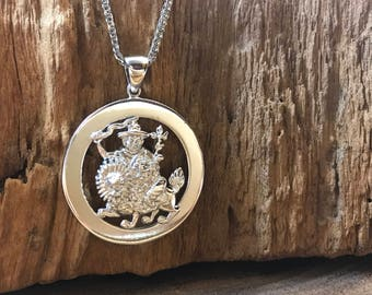 Incredible stainless steel World Peace Protector Pendant