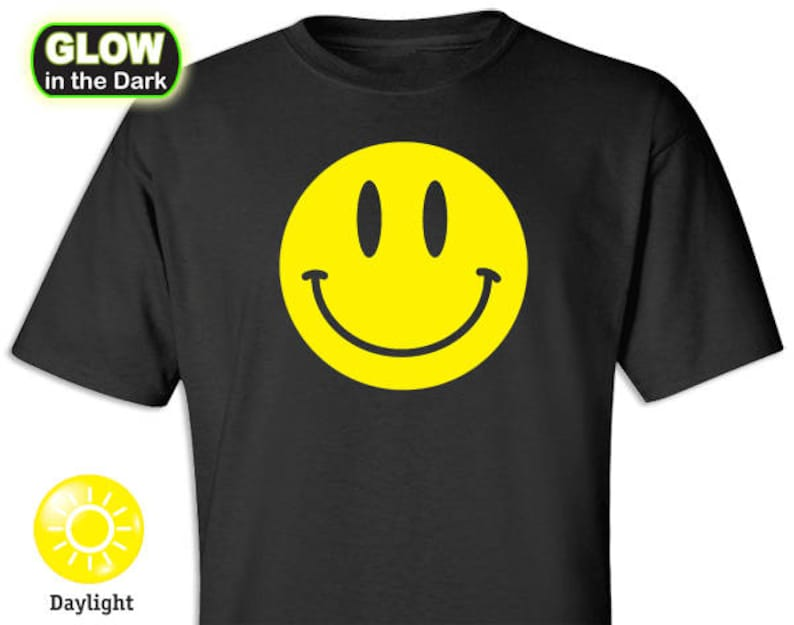Smiley Happy Face Glow-in-the-Dark Shirt image 0