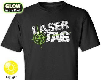 Laser Tag (Distress Look) Glow-in-the-Dark T-shirt