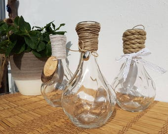 Set of 3 glass vase light bulbs look/garden/wedding decoration/table/for hanging/eyecatcher/lightbulbs look/wedding/Garden