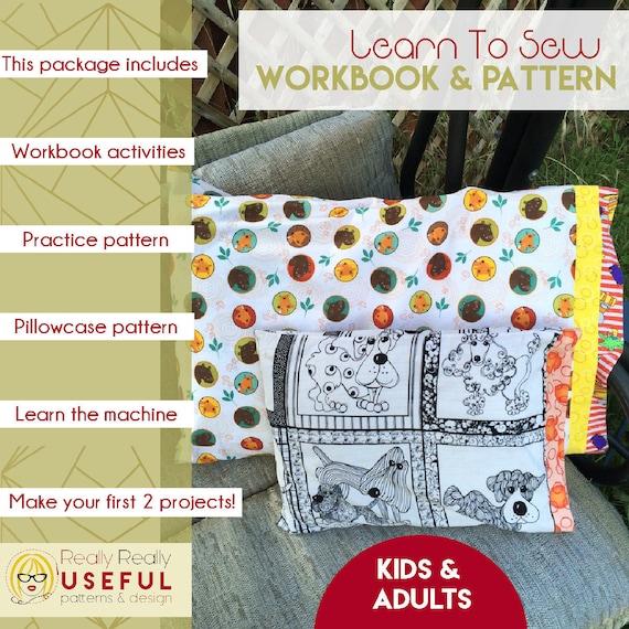 Learn To Sew Workbook Beginner Sewing Beginner sewing | Etsy
