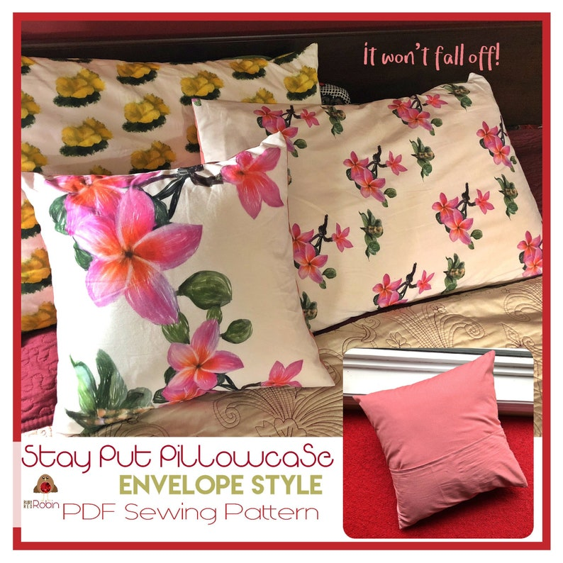 Pillowcase Sewing Pattern  Stay-Put Pillowcase  Easy Sewing image 0
