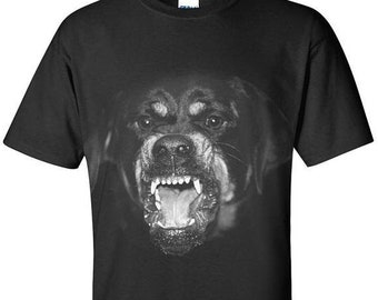 Givenchy Black Shirt, Rottweiler Givenchy T-shirt, Givenchy Paris Inspired, Vintage