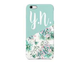 Pink Turqoise Flower Style15 Personalised Custom Quote Text Name Initials Gift Protective Phone Case Cover For Iphone X 7 8 Samsung Huawei