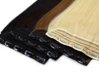 1 Piece Clip In Human Hair Extensions