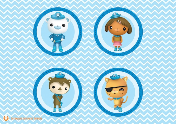 graphic regarding Octonauts Printable named Octonauts Cupcakes Toppers Printable Octonauts Toppers Octonauts Celebration Toppers Birthday Occasion Tags Octonauts People