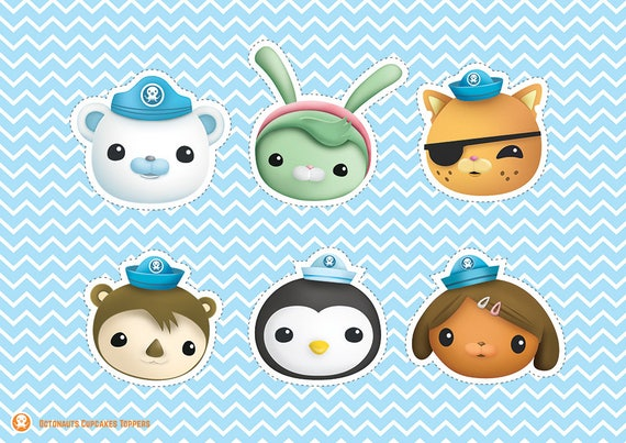 graphic relating to Octonauts Printable titled Octonauts Cupcakes Toppers Printable Octonauts Centerpieces Octonauts Social gathering Toppers Birthday Social gathering Octonauts People