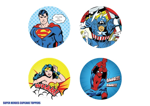 This is a graphic of Batman Cupcake Toppers Printable within medicine