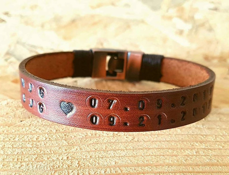Personalized Gift for Mom Mother/'s Day Gift Custom Gift for Unisex Leather Bracelet Customized Leather Man Bracelet Gift Coordinate