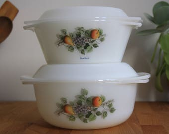 Arcopal casseroles/oven dishes, France, 1970s