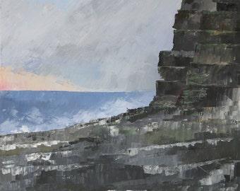 Sea Cliff - Acrylic on Canvas - 60x60