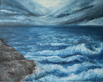 Stormy Sea - Oil on Canvas - 40x50cm