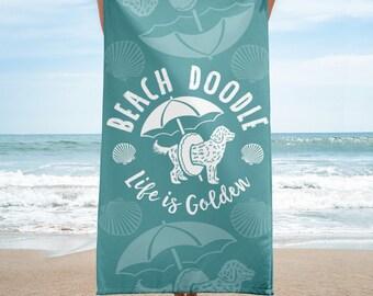 Beach Towel / Goldendoodle / Doodle Art / Dog Mom / Gift For Her / Golden Doodle / Dog Lover Gift / Fur Mama / Dog Mom Gift / Doodle Mom
