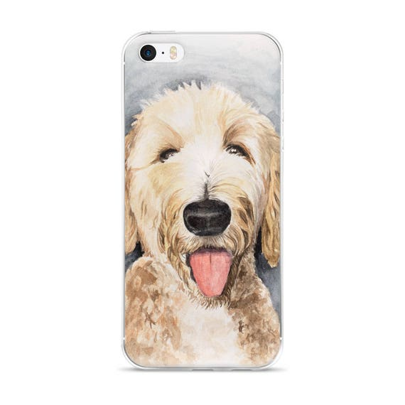 Personalized Realistic Labradoodle Goldendoodle Case iPhone 7 8 Plus X XS XR XS se 11 12 Pro Max,Dog Lover Custom Gift Doodle Case #ICPLP22