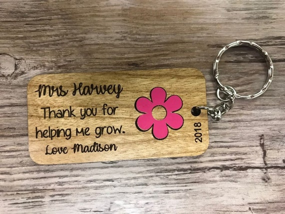 Thank You Teacher Gift Keyring • End Of Term Keepsake • Leaving Gift• Graduation