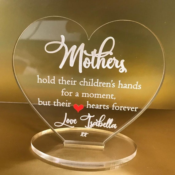 Personalised happy mothers day mother/'s day you helped me heart plaque gift