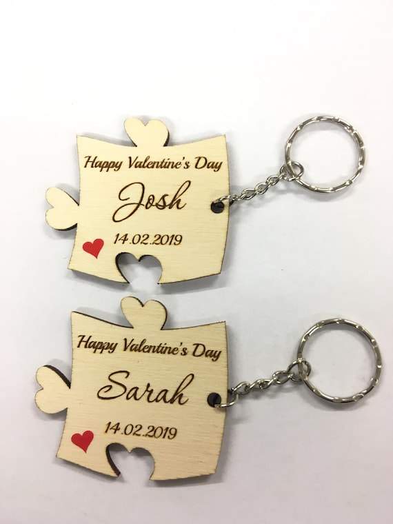 Personalised Valentines Gifts For Her Him Boyfriend Girlfriend Keyring Set Gifts