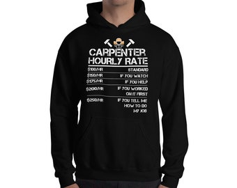 Carpenter Shirt Funny Carpenter Hourly Rate Tshirt Wood | Etsy